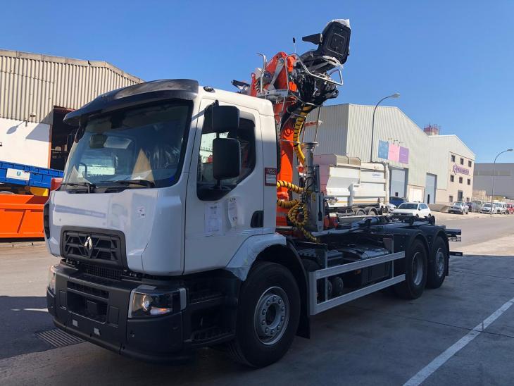 camion con carrocería multivol de la marca cayvol